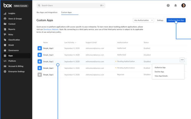 Custom Apps Management