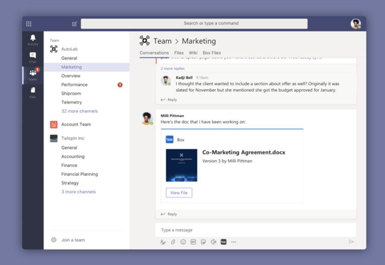 Microsoft TeamsとBoxの連携