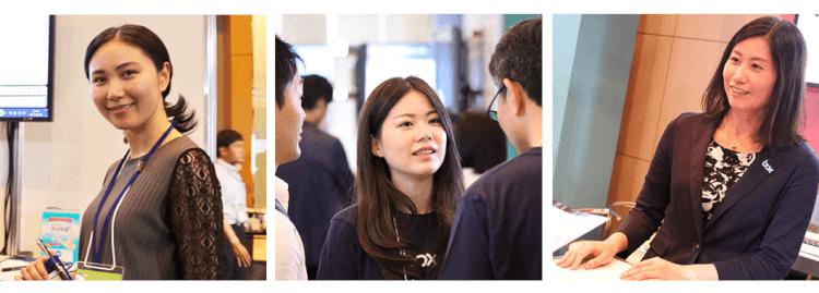 イベントを彩った活躍する女性たち〜展示エリア 03