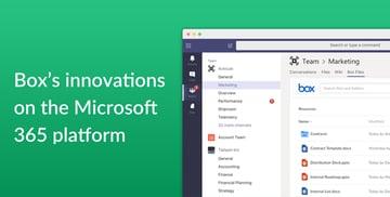 Microsoft 365プラットフォームとの統合におけるBox最新のイノベーション