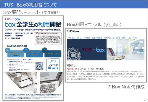 今年4月からは学部生向けにもBoxの提供を開始した