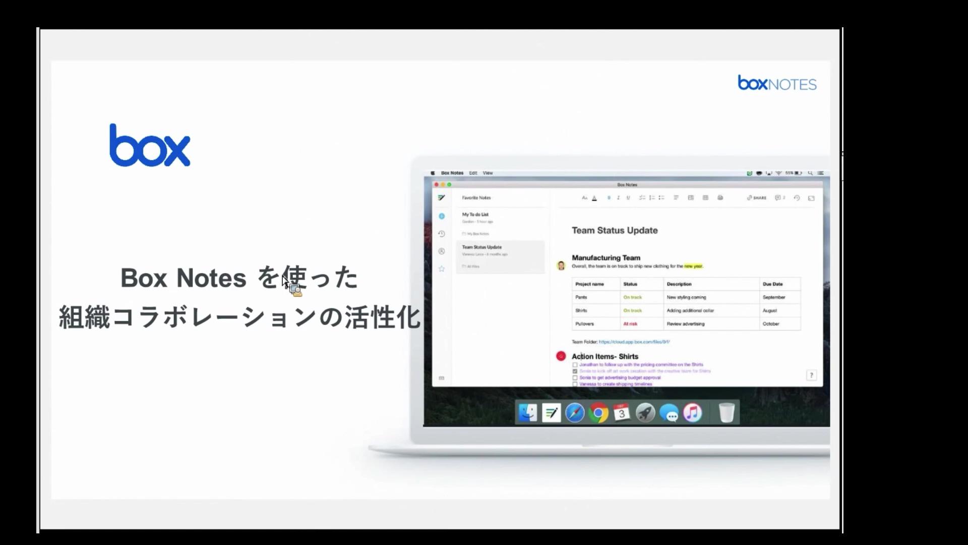 BoxNoteを使った組織コラボレーション活性化(2019.5.10)