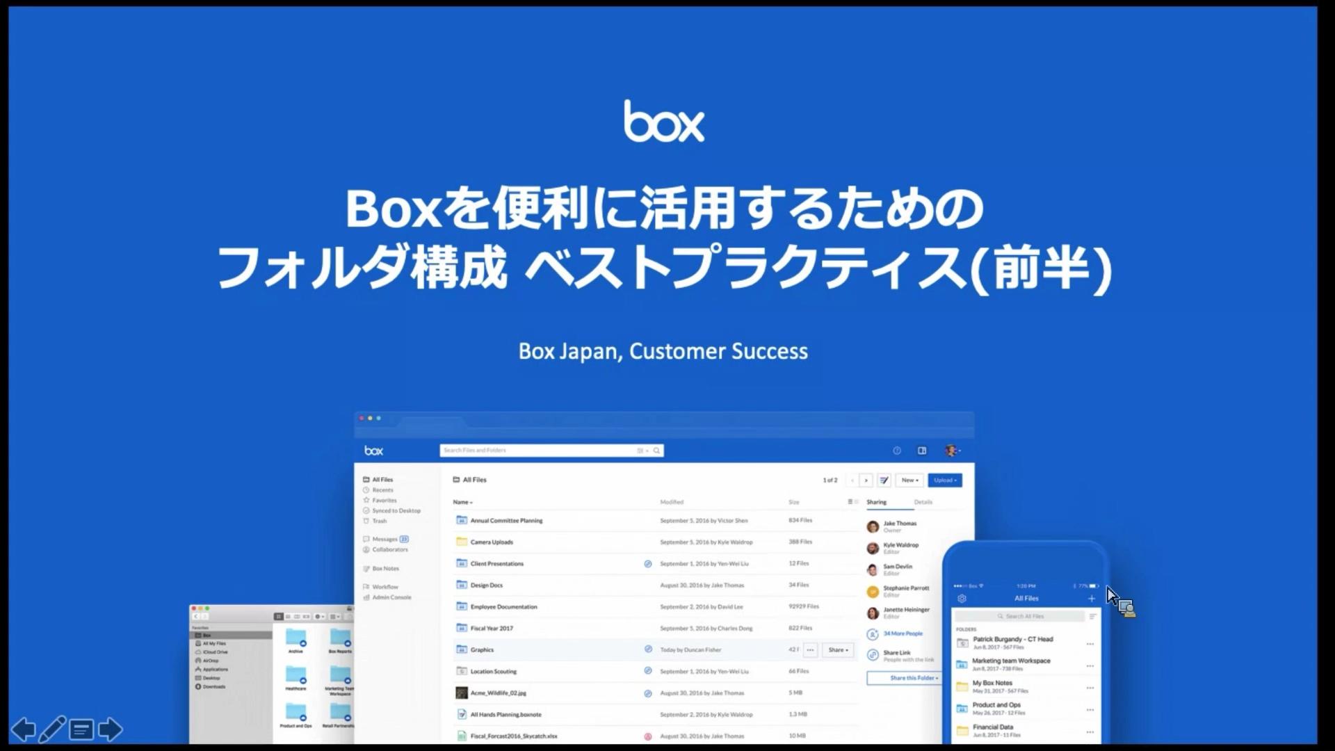 Boxを便利に活用するための フォルダ構成 ベストプラクティス(2019.7.5)