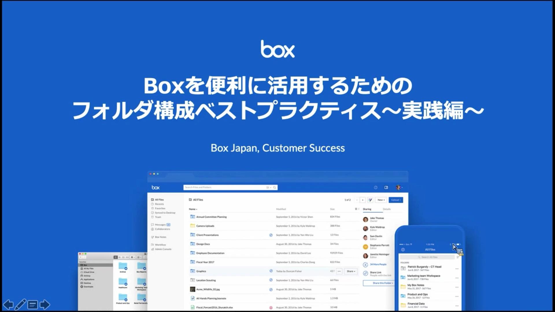 Boxを便利に活用するためのフォルダ構成 ベストプラクティス〜実践編〜(2019.8.2)